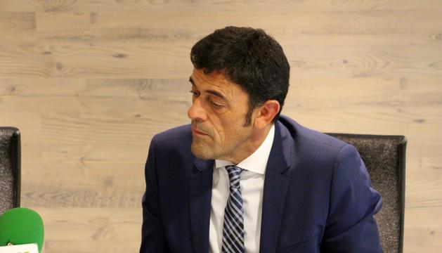 El cònsol major d'Ordino Josep Àngel Mortés.