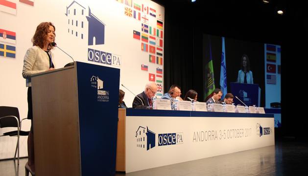 La intervenció davant de l'OSCE-PA de Sílvia Calvó, ministra de Medi Ambient, Agricultura i Sostenibilitat.