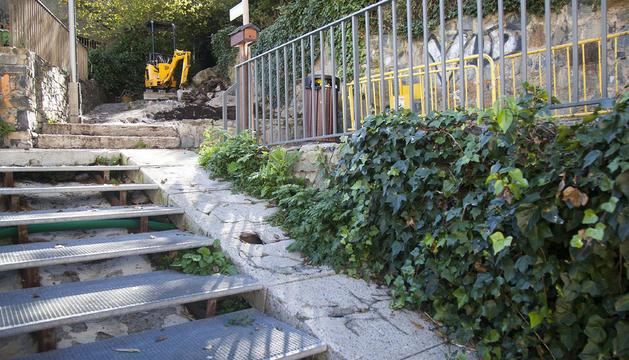 Una imatge del camí on s'estan fent les obres.