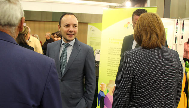 El ministre d'Afers Socials, Justícia i Interior, Xavier Espot, avui a Escaldes-Engordany.