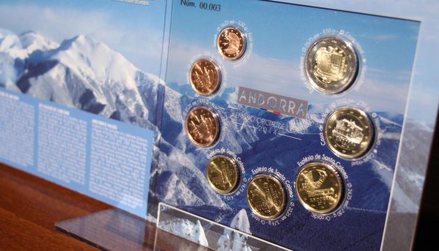 Una imatge dels euros andorrans.