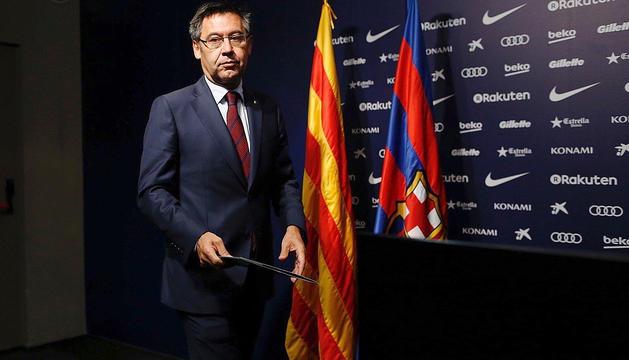 El president del Futbol Club Barcelona, Josep Maria Bartomeu.