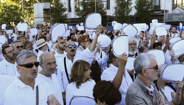 Participants a la manifestació de Madrid.
