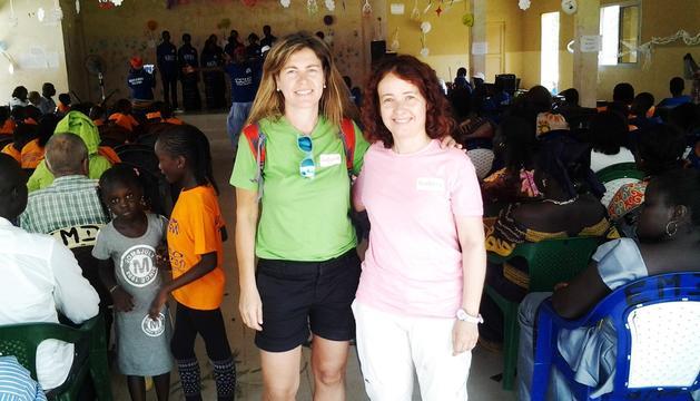 La presidenta de Mans Unides, Meritxell Farrero, i la tresorera, Àngels Fernández, van viatjar al Senegal per controlar els projectes que han desenvolupat allí.