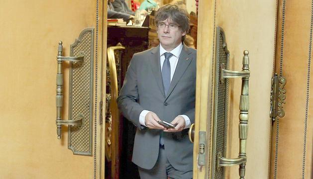 Puigdemont compareixerà avui davant el Parlament.