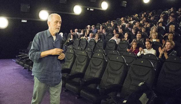El realitzador espanyol, durant la presentació de 'Chico & Rita', als cines d'Illa Carlemany.
