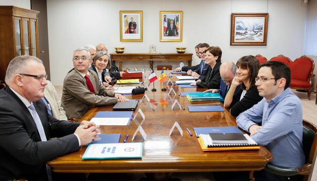Reunió de la Comissió mixta Franco-Andorrana de delimitació de la frontera amb França.