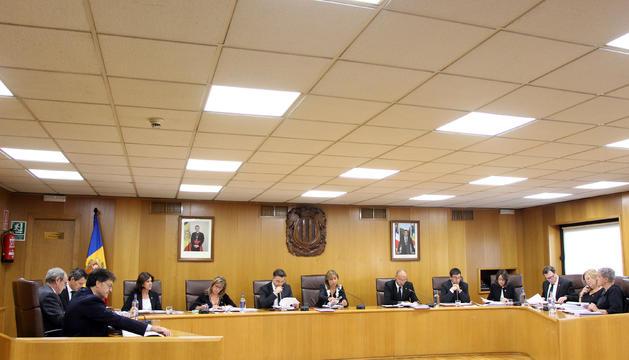 Un moment de la sessió de consell de comú celebrada aquest dijous a Andorra la Vella.