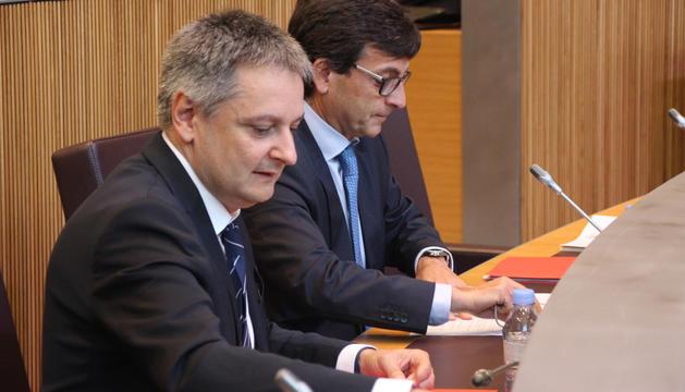 Els ministres Gilbert Saboya i Jordi Cinca.