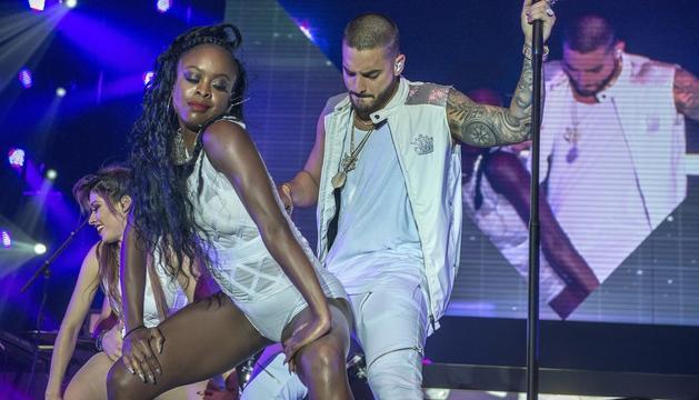 El cantant Maluma, una de les icones del 'reggaeton', durant una actuació.