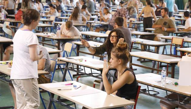 Examen del BAC al Lycée Compte de Foix del curs passat.