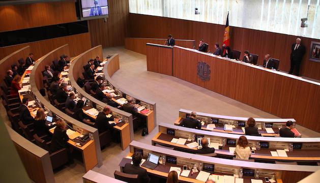 Un moment de la sessió de Consell General aquest matí.