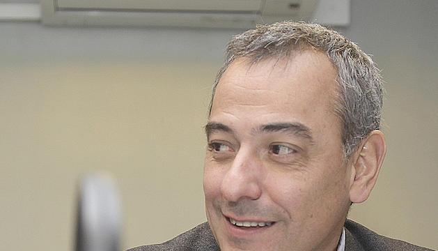 David Palmitjavila als estudis de la ràdio del Diari.
