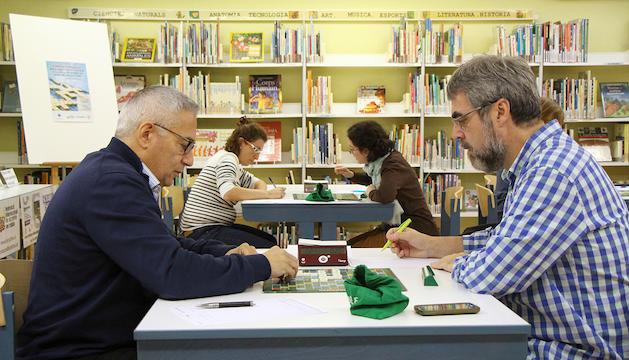 Campionat Internacional d'Scrabble a Encamp, ahir.