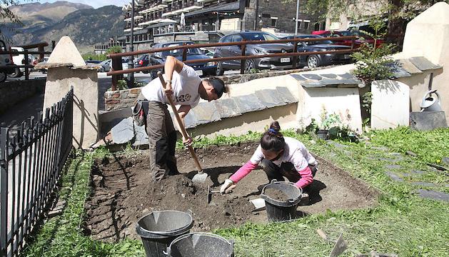 Excavació a Soldeu, una de les recerques en curs.