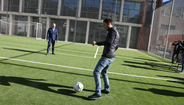 Jordi Vilanova i Manolo Jiménez, ahir en la inauguració.