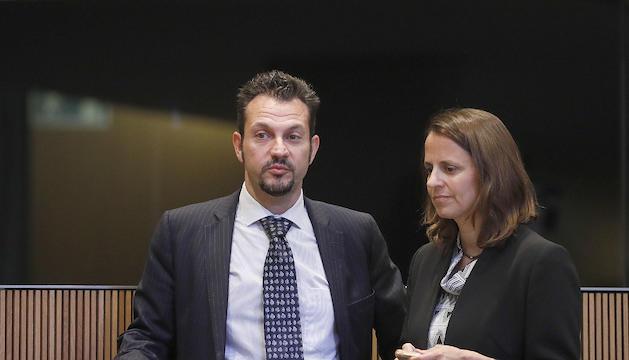 Els consellers del PS Gerard Alís i Rosa Gili.