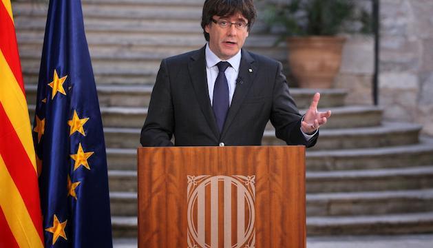 Carles Puigdemont va afirmar que divendres va ser un dia històric.