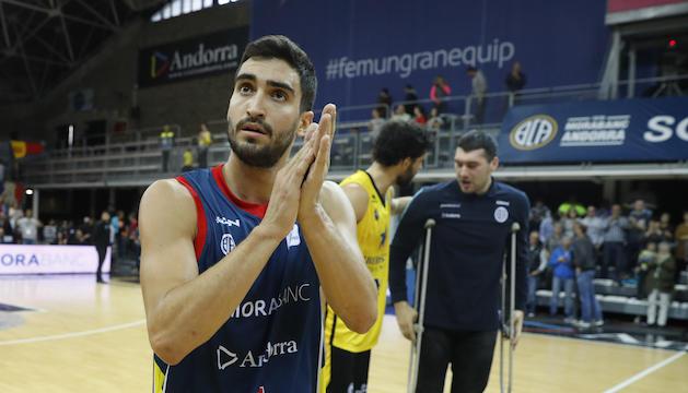 Jaime Martínez celebra el triomf del MoraBanc al que ell ha contribuït enormement