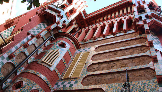 Detall de la façana de la Casa Vicens
