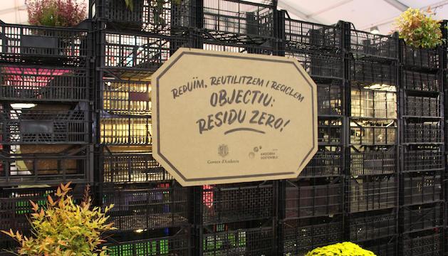 Un dels missatges que es podien veure a l'estand del departament de Medi Ambient i Sostenibilitat a la Fira d'Andorra la Vella.