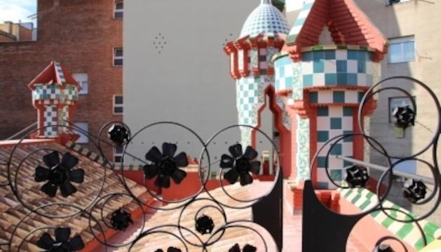 Detall del terrat de la Casa Vicens
