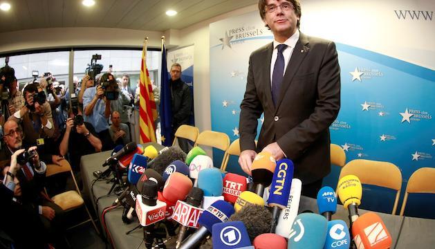 El president de la Generalitat, cessat pel govern espanyol, Carles Puigdemont.