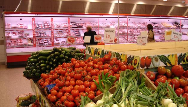 Aliments en un supermercat