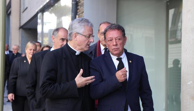 Vives i Vila durant la trobada d'aquest matí a Sant Julià.