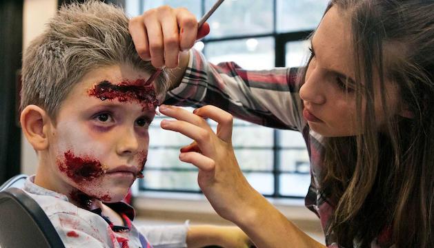 El taller de maquillatge de Halloween.