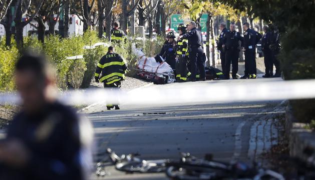 La furgoneta amb què es va perpetrar l'atac.