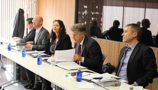 Els avaluadors del Greco durant la visita que van fer al país el mes de novembre del 2016.