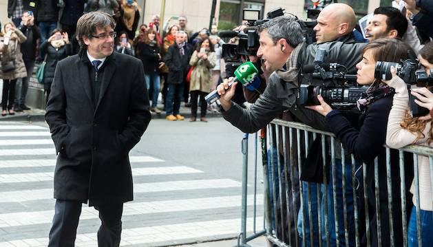 Puigdemont no viatjarà a Madrid per declarar davant la justícia.