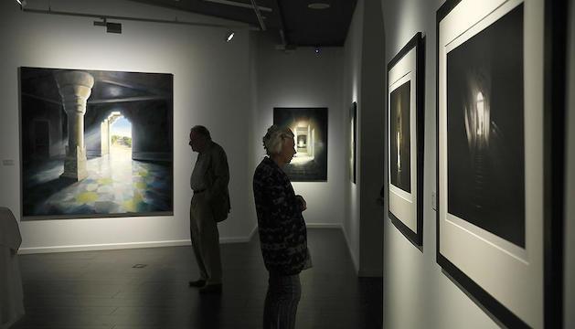 Visitants a l'exposició.