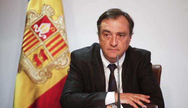 Marc Vila en una imatge de quan era ministre de Justícia i Interior.