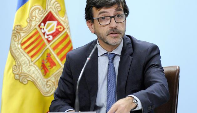 El ministre portaveu, Jordi Cinca, durant la roda de premsa posterior al Consell de Ministres