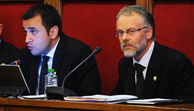 Areny i Roig en una sessió de consell durant l'anterior legislatura.