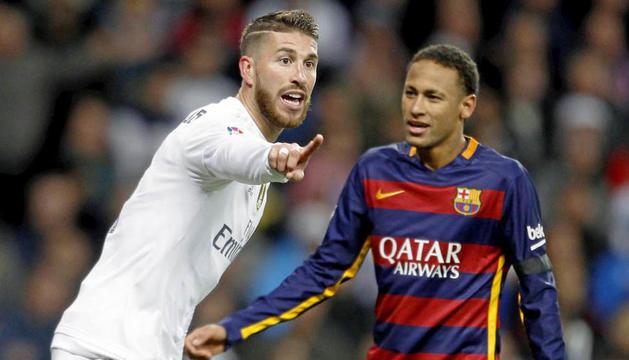 Sergio Ramos i Neymar en una imatge d'arxiu.