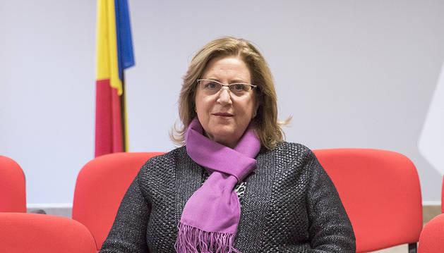 La consellera Dolors Carmona a la seu del PS a Andorra la Vella.