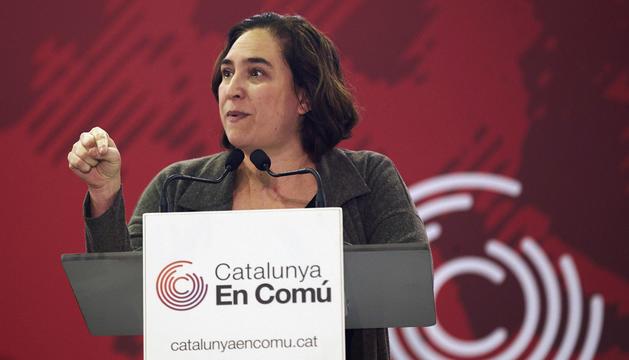Colau a l'assemblea de Catalunya en Comú de dissabte.