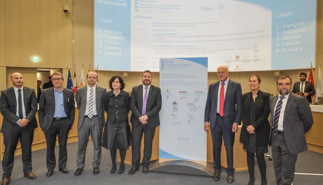 Imatge d'un plenari de la Comunitat de Treballs dels Pirineus, que gestiona els projectes.