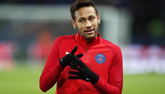 Neymar Jr., en un entrenament amb el París Saint-Germain.