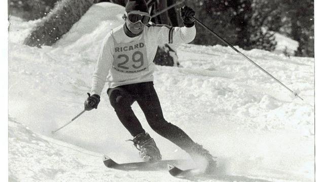 Un dels participants al I Gran Premi d'Esquí d'Andorra.