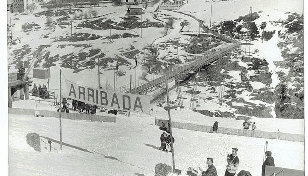 Vista de l'arribada d'una de les pistes de la competició.