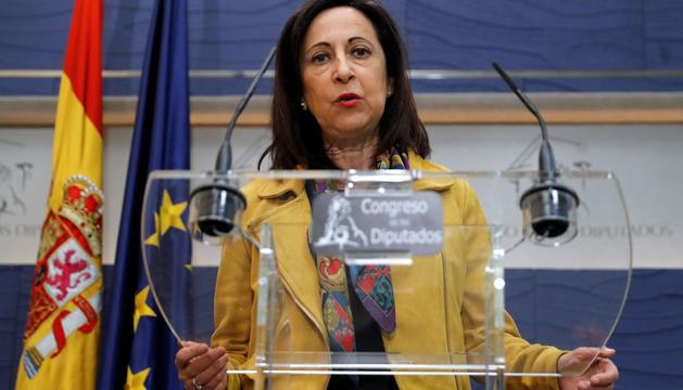 La portaveu socialista al Congrés dels Diputats, Margarita Robles, ahir.