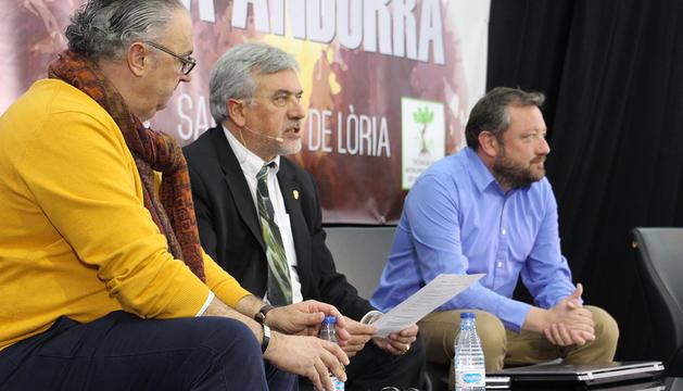 La roda de premsa d'aquest dilluns a Sant Julià de Lòria.