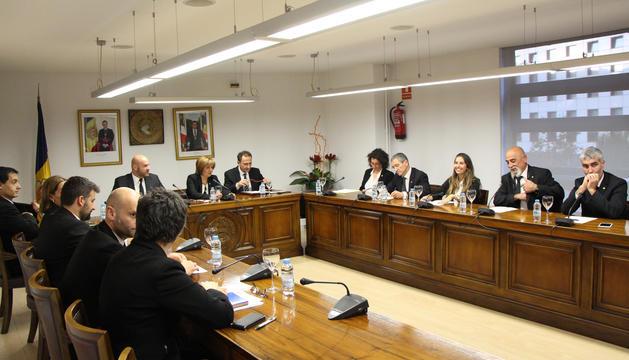 Un moment de la sessió de consell de comú d'Escaldes-Engordany d'avui.