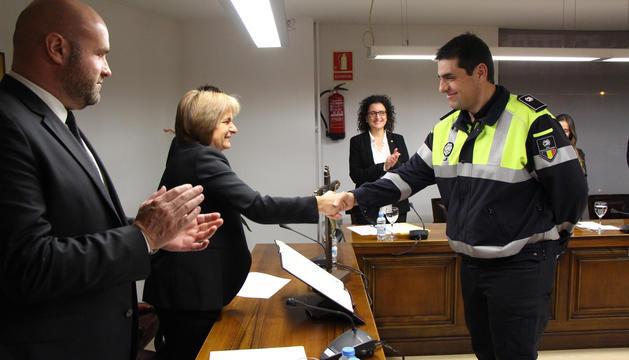 Ramiro Palacín ha pres possessió del seu càrrec d'agent de circulació d'Escaldes-Engordany avui.