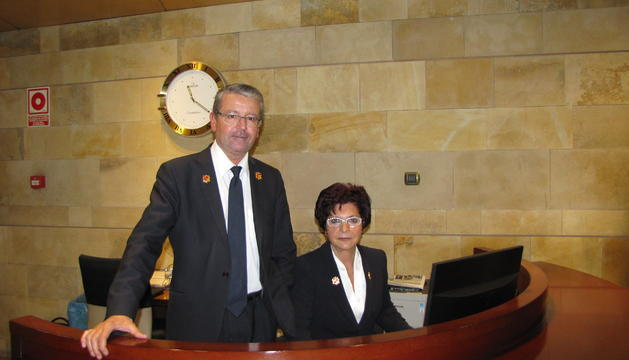La Ramona López i el josep capdevila, els dos nuncis de Govern.