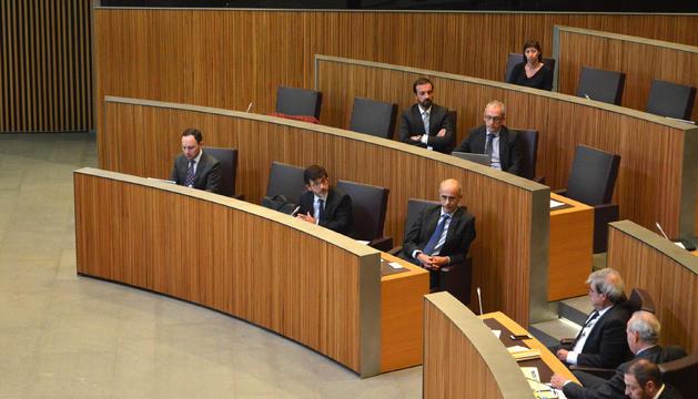 Una imatge dels membres del Govern durant la sessió de Consell General d'avui.
